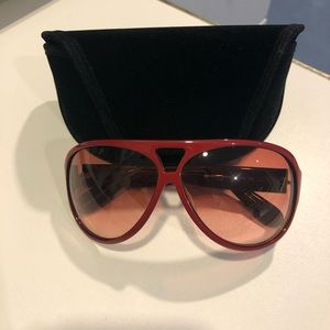 Marc by Marc Jacobs Red Aviator Sunglasses
